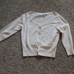 Cream Dress Cardigan